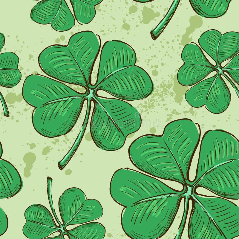 Bezszwowy wzoru St Patrick dzień ilustracji