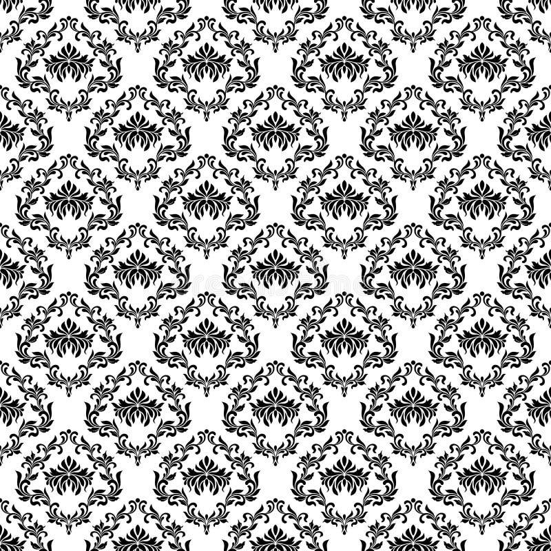 bezszwowy wzoru Tapeta w rocznika stylu T?o adamaszek ilustracji