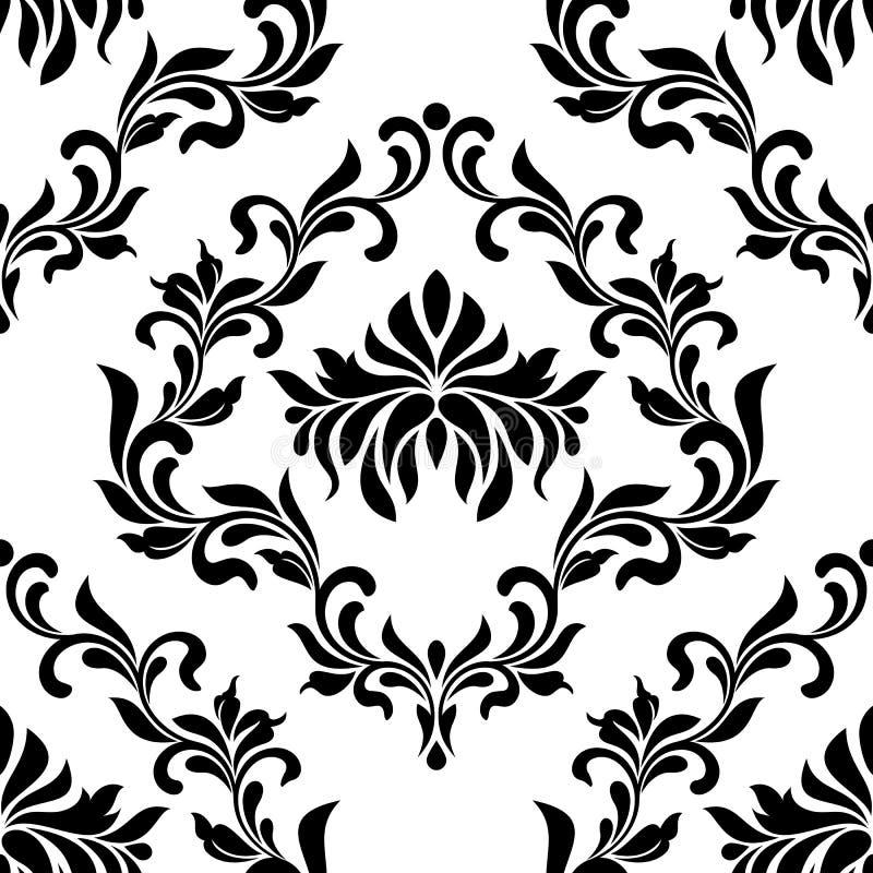 bezszwowy wzoru Tapeta w rocznika stylu T?o adamaszek ilustracja wektor