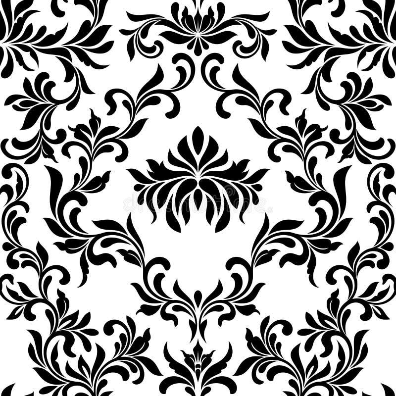 bezszwowy wzoru Tapeta w rocznika stylu T?o adamaszek royalty ilustracja