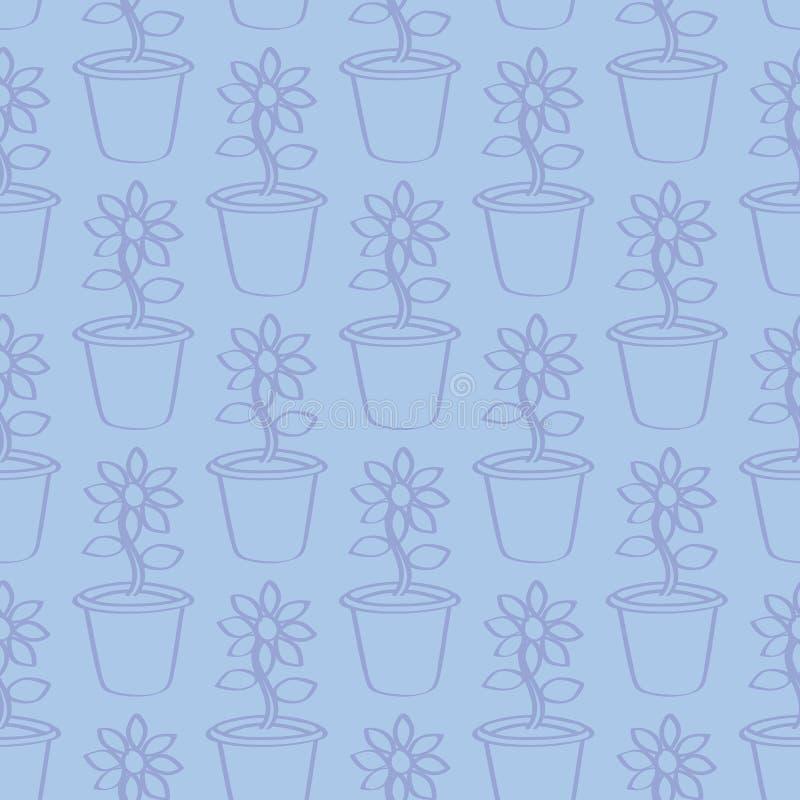 Download Bezszwowy Zarysowany Kreskówka Słonecznika Tło Ilustracja Wektor - Ilustracja złożonej z kwiat, nowożytny: 57653719