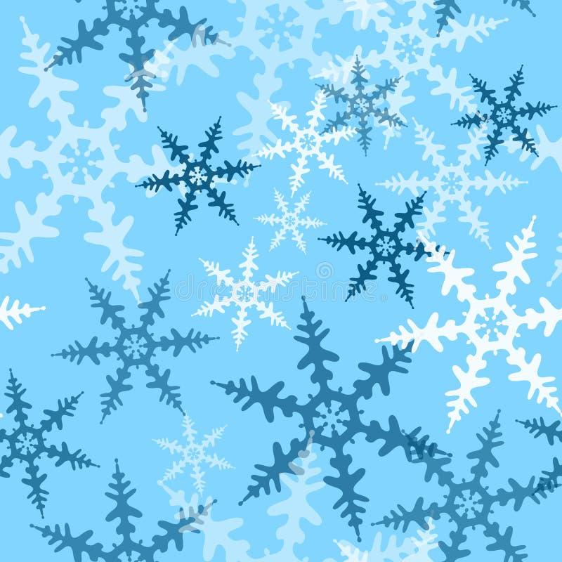 bezszwowy zatwierdzenia płatek śniegu ilustracji