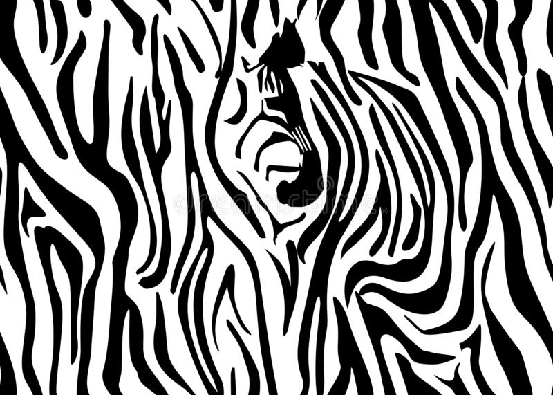 Bezszwowy zebry skóry wzór Tapeta z czerń lampasami na białym tle Zebra paskuje łowieckiego kamuflaż wektor ilustracja wektor