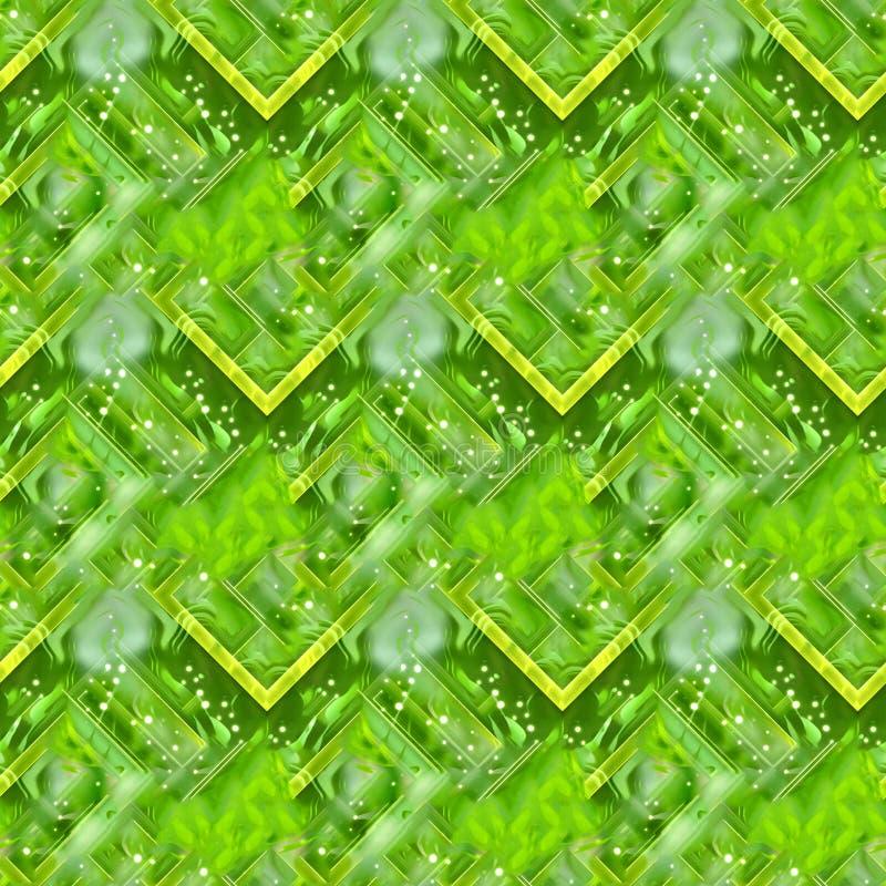 Bezszwowy zielony abstrakcjonistyczny tło royalty ilustracja