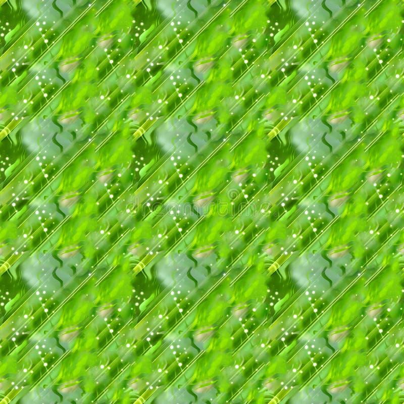 Bezszwowy zielony abstrakcjonistyczny tło ilustracji