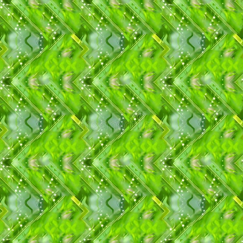 Bezszwowy zielony abstrakcjonistyczny tło ilustracja wektor