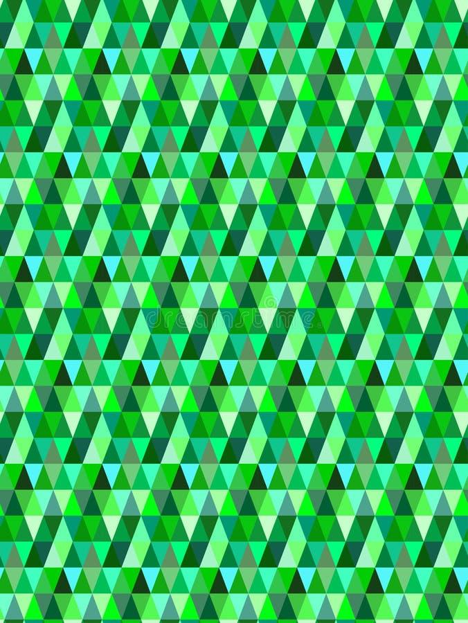 Bezszwowy zielony trójgraniasty wektoru wzór, tło/ obraz stock