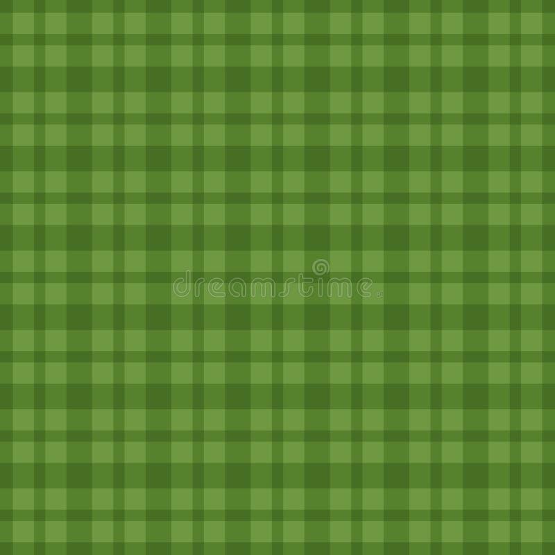 Bezszwowy zielony vichy wzór również zwrócić corel ilustracji wektora ilustracji