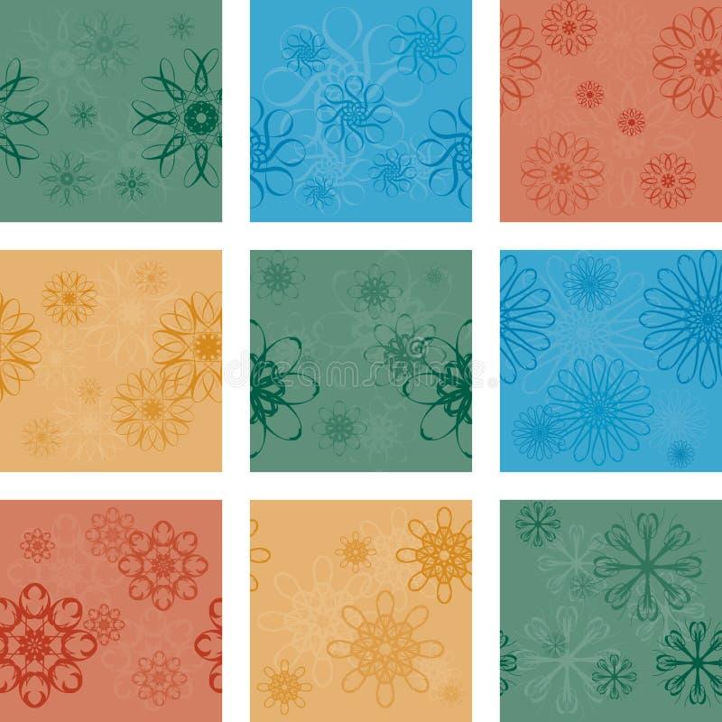 bezszwowych dziewięć wzorów zdjęcie stock