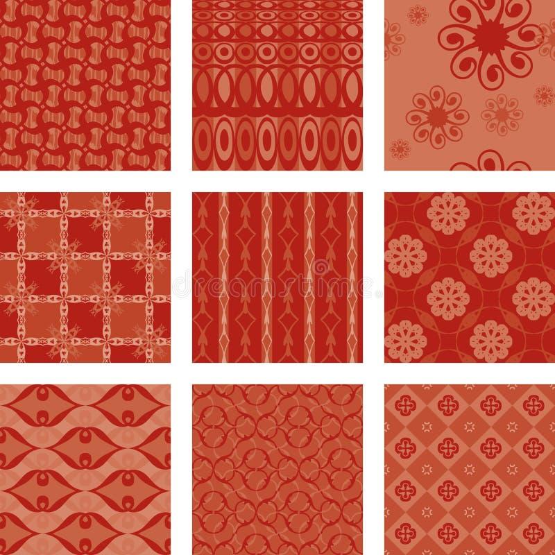 bezszwowych dziewięć wzorów zdjęcie royalty free