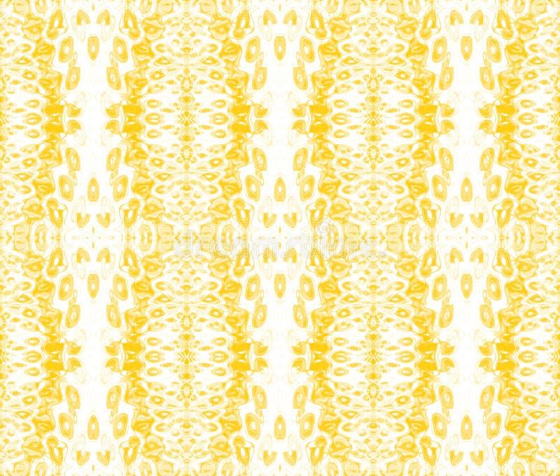 Bezszwowych elips deseniowy żółty pomarańczowy beż pionowo ilustracji