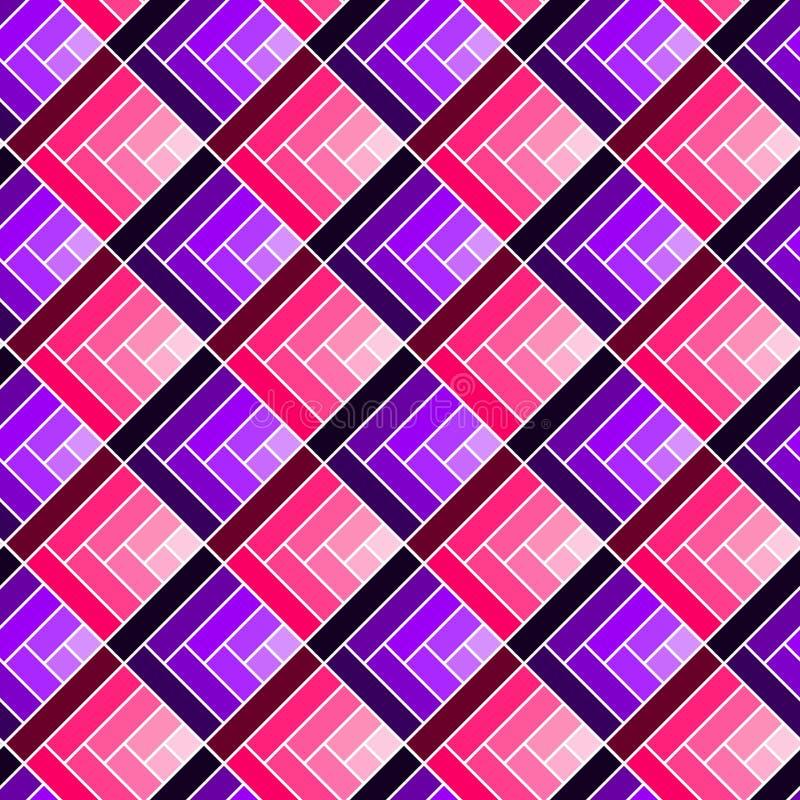 Bezszwowych geometrycznych kwadratów deseniowy tło royalty ilustracja