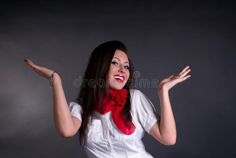 Beztroska Szczęśliwa Kobieta Zdjęcie Royalty Free
