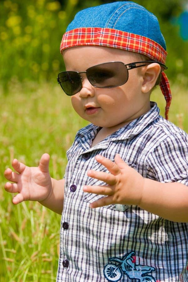 beztroski mały chłopiec fotografia stock