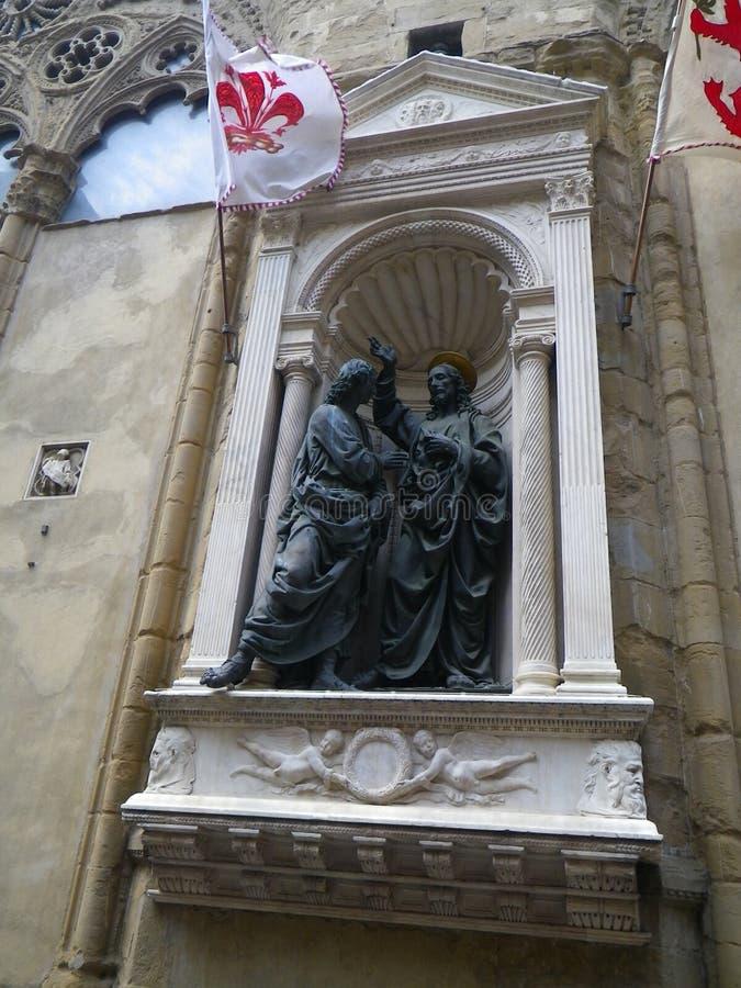 Bezweifeln von Thomas und von Jesus Sculpture in Rom lizenzfreie stockbilder