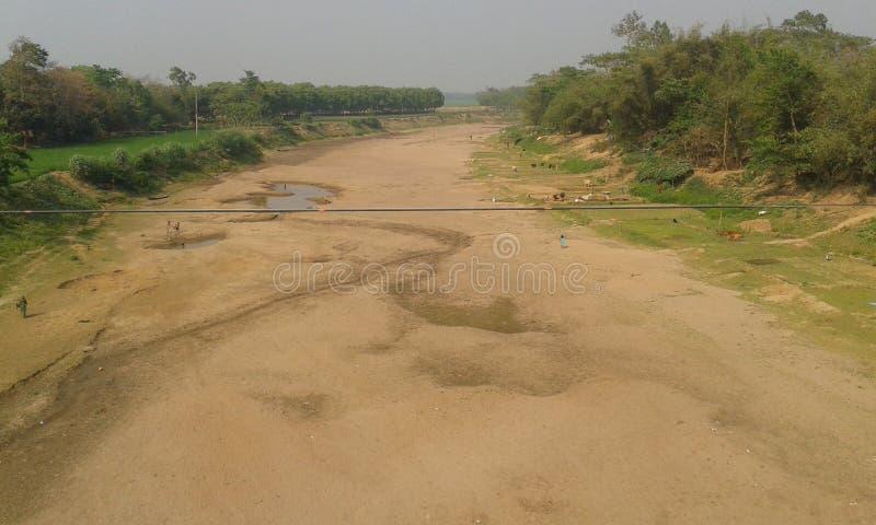 Bezwodna rzeka obraz royalty free