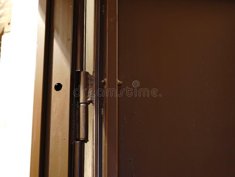 Bezwolny rygiel wśrodku drzwiowego zakończenia zdjęcia royalty free