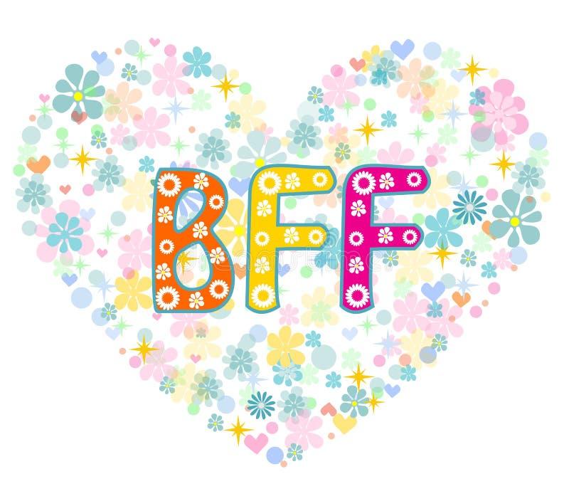 BFF καλύτερα για πάντα φίλοι χαιρετισμός καλή χρονιά καρτών του 2007 διανυσματική απεικόνιση