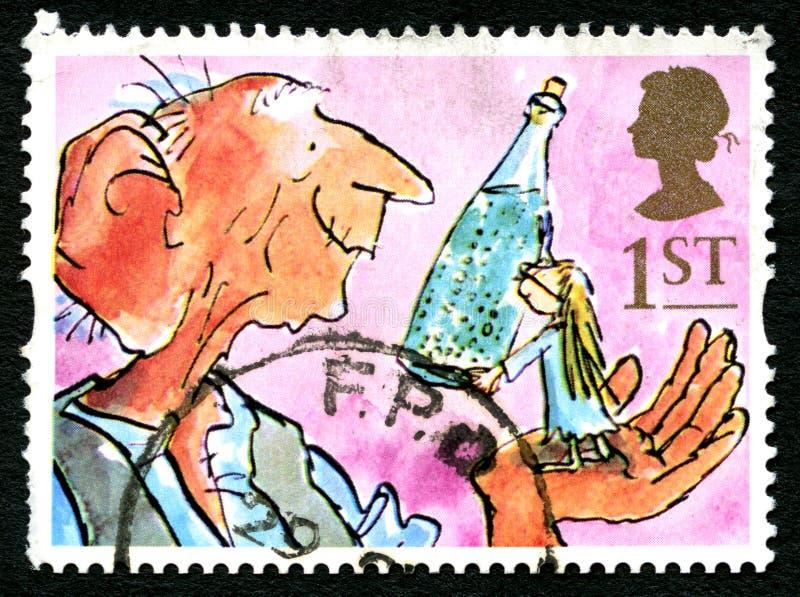 BFG UK znaczek pocztowy ilustracja wektor