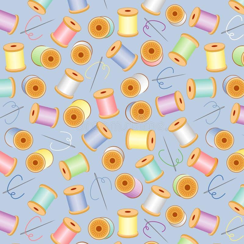 bg blue needles pastels seamless threads 皇族释放例证