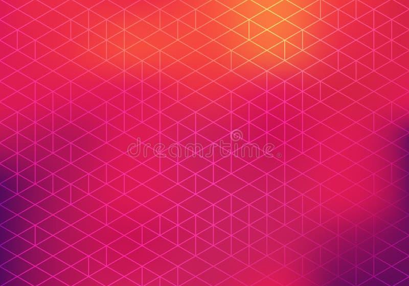 BG colorida com teste padrão geométrico e inclinação borrado Sumário BG do vetor ilustração do vetor