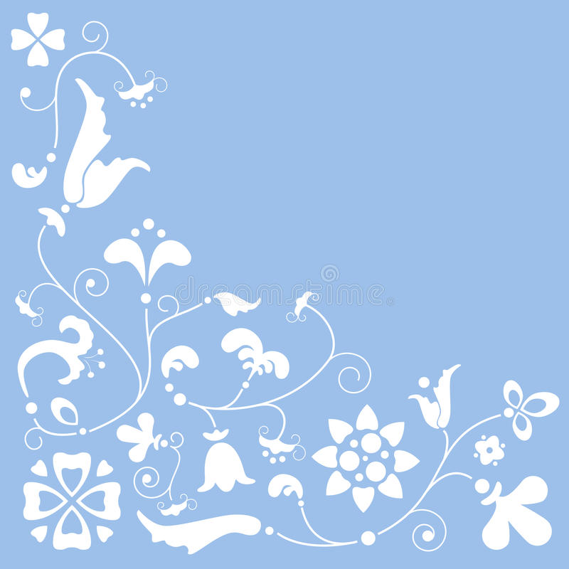 BG floral ilustração royalty free