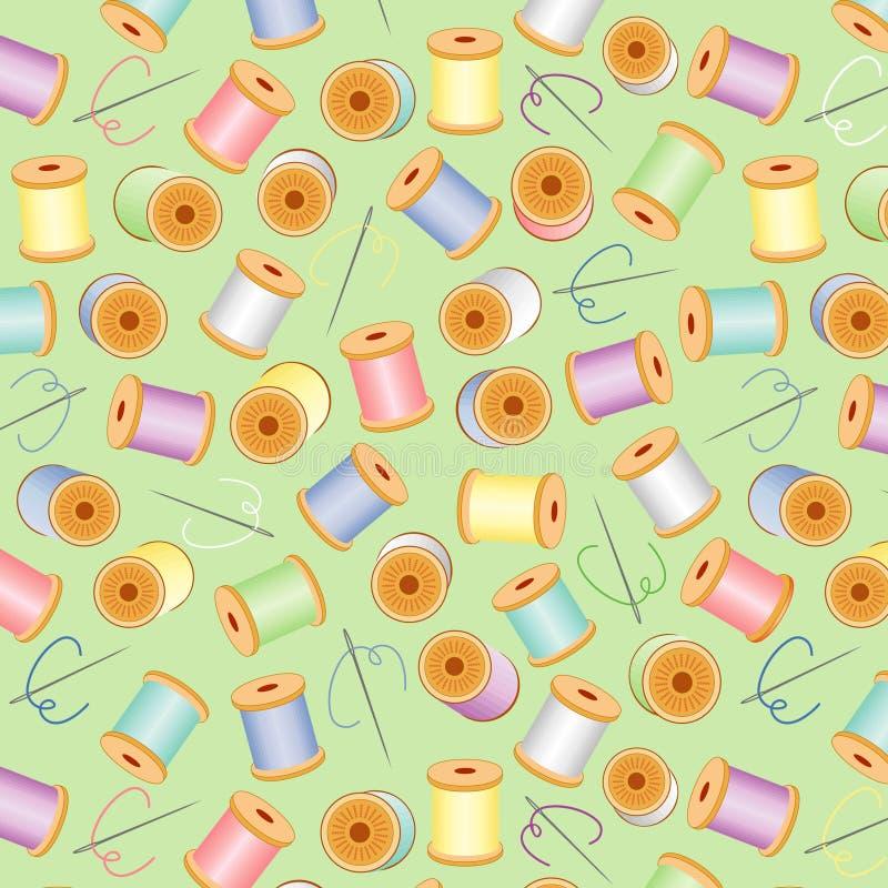 bg green needles pastels seamless threads 向量例证