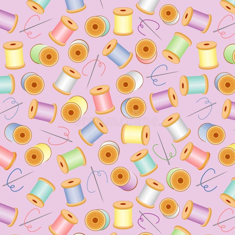 bg lavender needles pastel seamless threads иллюстрация штока