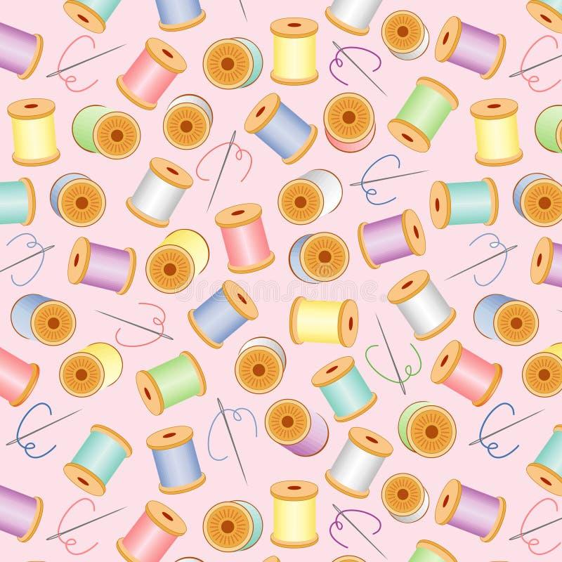 bg needles pastel pink seamless threads 皇族释放例证