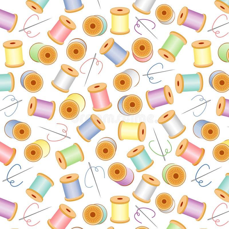 bg needles pastel seamless threads white 库存例证