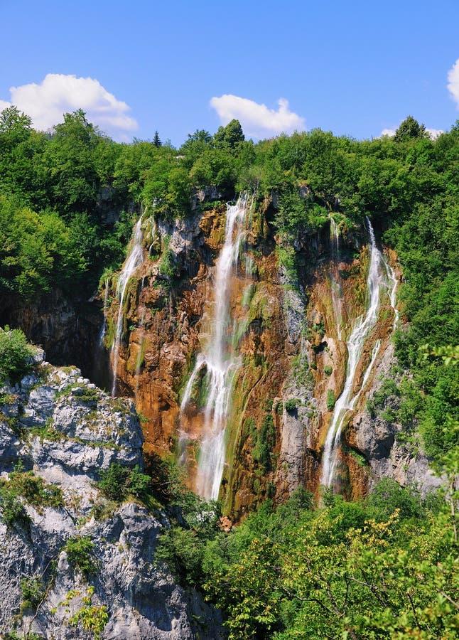 Veliki Slap Big Waterfall, Plitvice National Park stock image