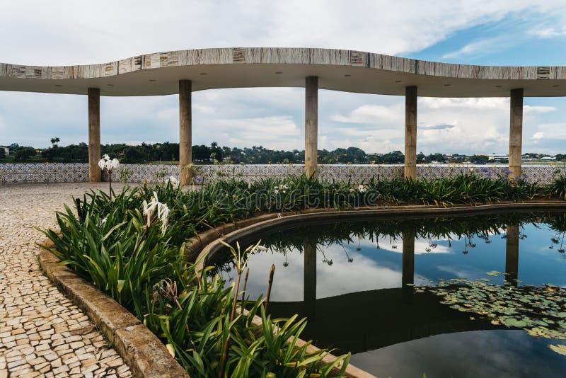 Pampulha Modern Ensemble. BH, Brazil - Dec 27, 2017: UNESCO World Heritage Site Pampulha Modern Ensemble ref 1493 Ballroom designed by architect Oscar Niemeyer stock photos