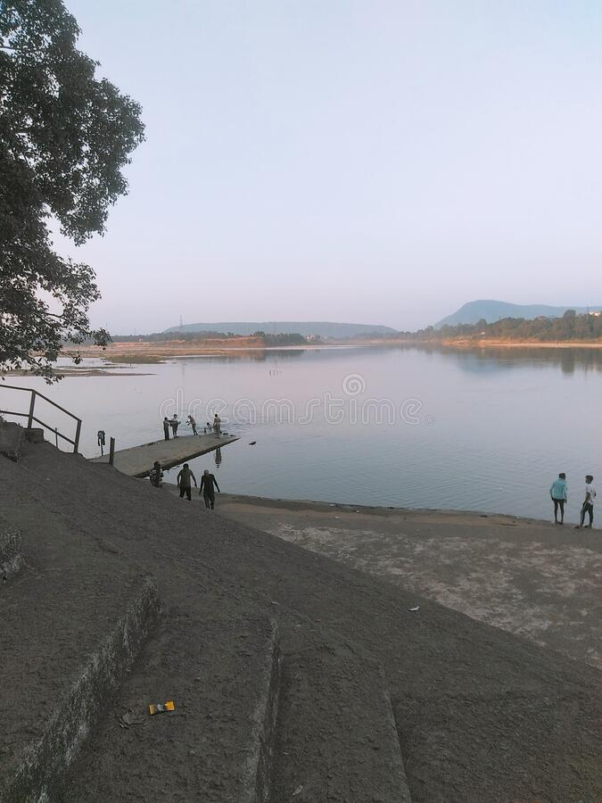 Bhabhani river, bedbyashin rourkela ,india. Way to heaven,,all people should know that place in rourkela royalty free stock images