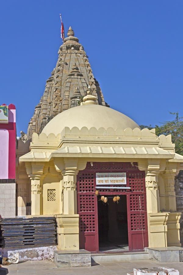 Bhadrakali temple in Dwarka. FEB 11, 2015, DWARKA, INDIA - Temple of the Goddess Bhadrakali, or The Happy Kali royalty free stock photography