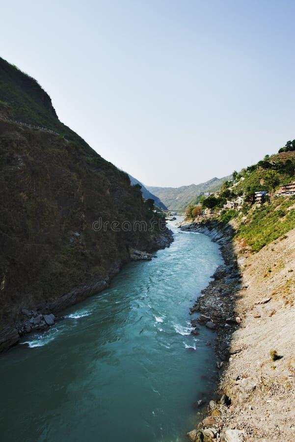 Bhagirathi-Fluss bei Gangotri, Uttarkashi-Bezirk, Uttarakhand, stockfotos