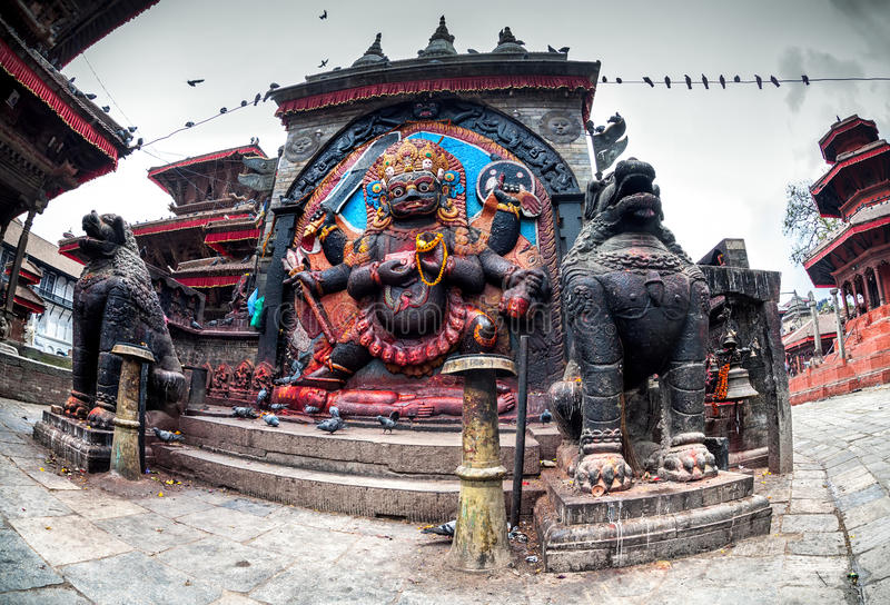 Bhairab statue in Nepal royalty free stock photography