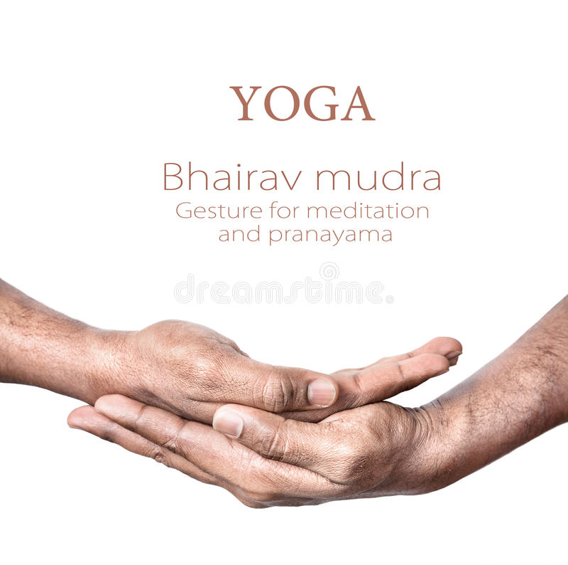 bhairav mudra joga fotografia royalty free