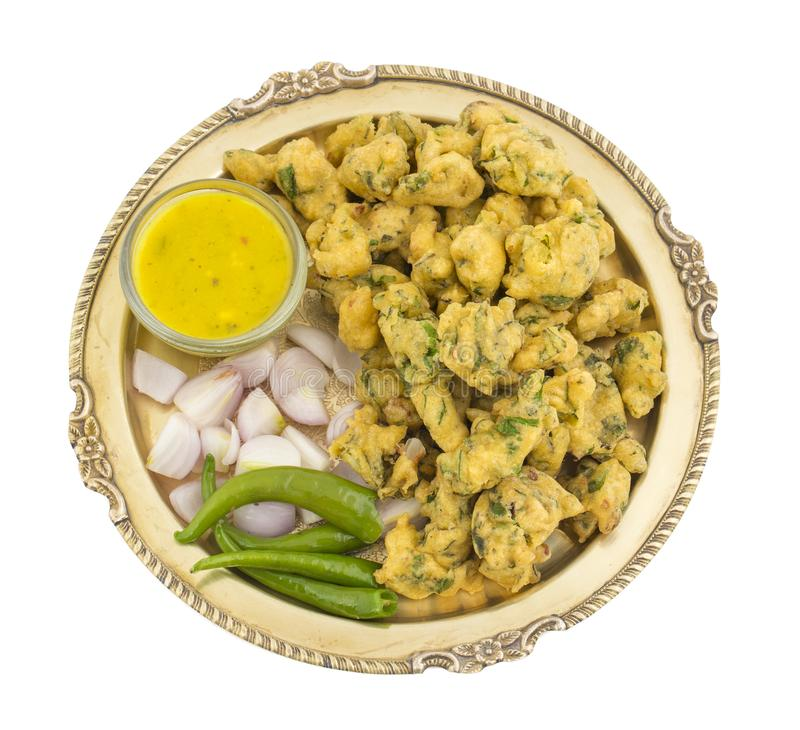 Pakora or Bhajiya stock image