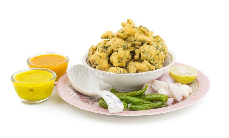 Pakora or Bhajiya royalty free stock photo
