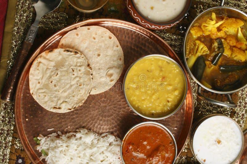 Bhakri - een flatbread van Jowar van Gujarat wordt gemaakt dat. stock afbeelding