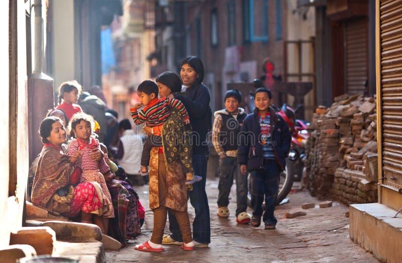 Bhaktapur - colourfull town royalty free stock photo