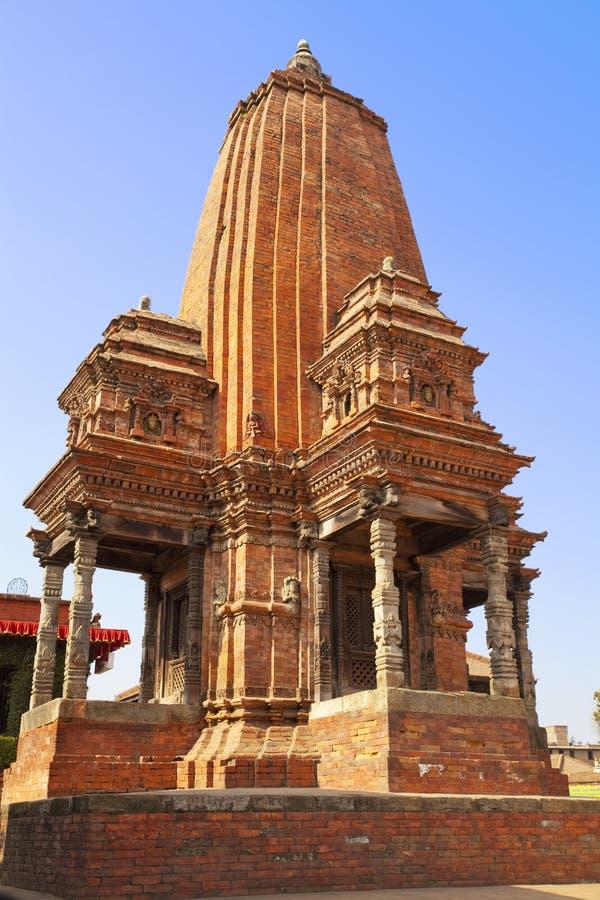 bhaktapur durbar印度尼泊尔方形寺庙 图库摄影