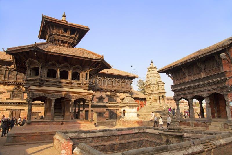 bhaktapur durbar尼泊尔广场 免版税库存照片
