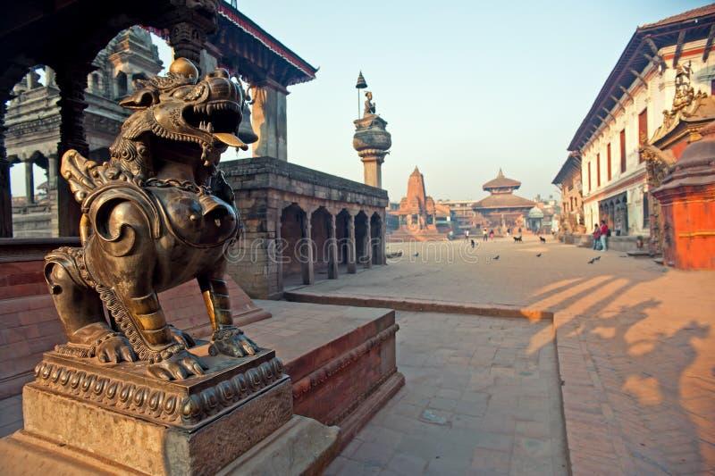bhaktapur durbar Nepal kwadratowa świątynia obraz royalty free