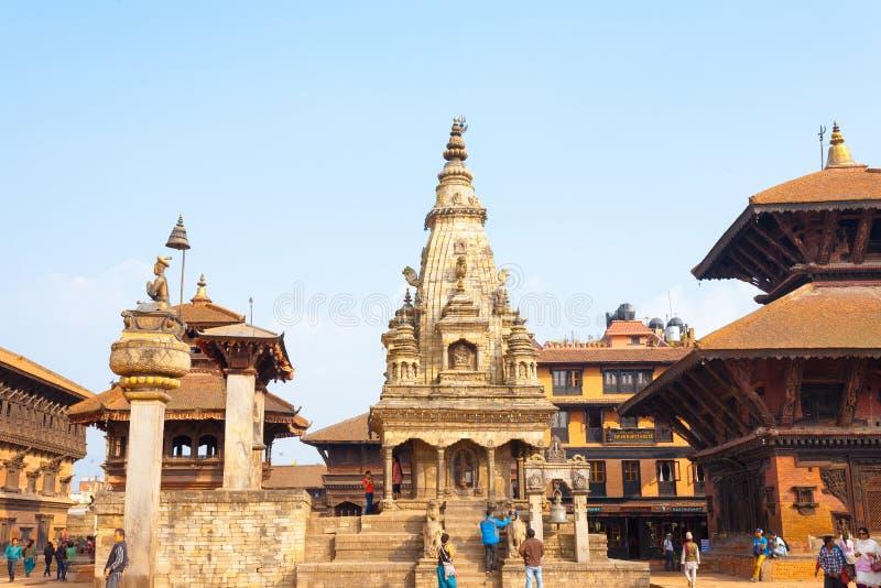 Bhaktapur Durbar Vatsala intact carré Durga H photo stock