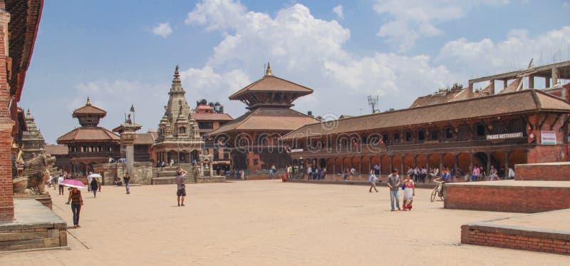 Bhaktapur, Nepal - Circa June 2013: View of Durbar Square stock photos