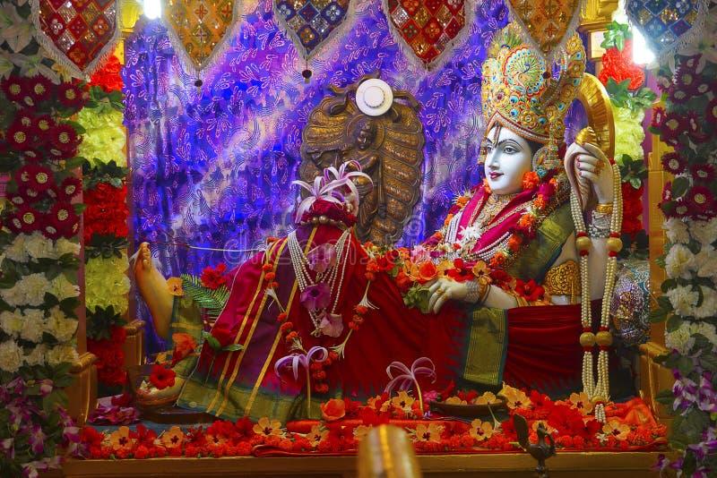 Bhalka Tirth en Prabhas Patan, Gujarat, India Heilige godsdienstige plaats waar de voeten van Lord Krishna ` s door een jager wer royalty-vrije stock afbeelding