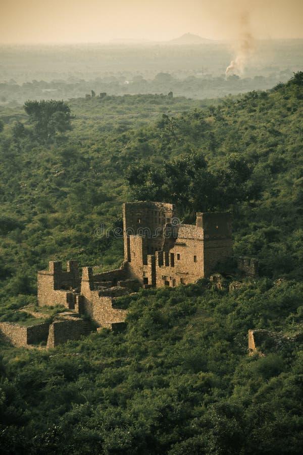 Bhangarh堡垒 免版税库存照片