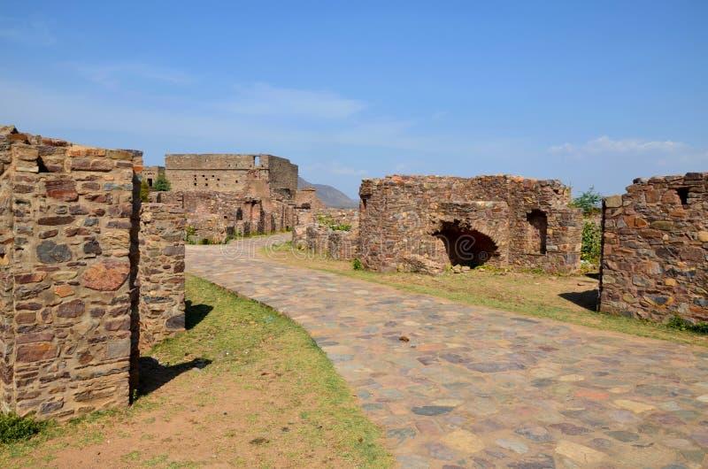 Bhangarh废墟 免版税库存图片