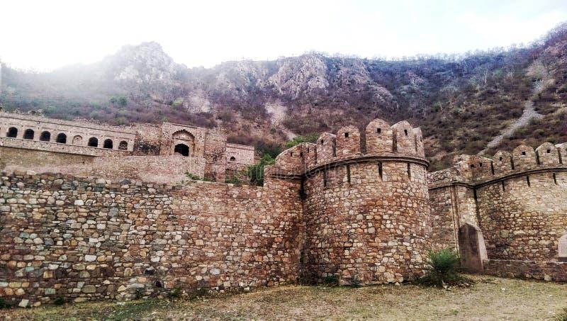 Bhangarh fort fotografia stock